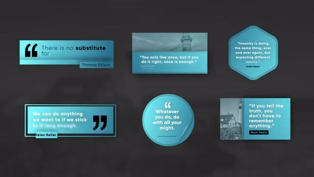 Unique Quote Titles V1: After Effects Templates
