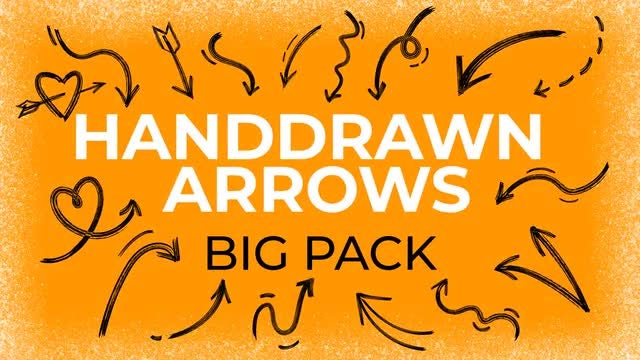 Hand-Drawn Arrows Big Pack: After Effects Templates