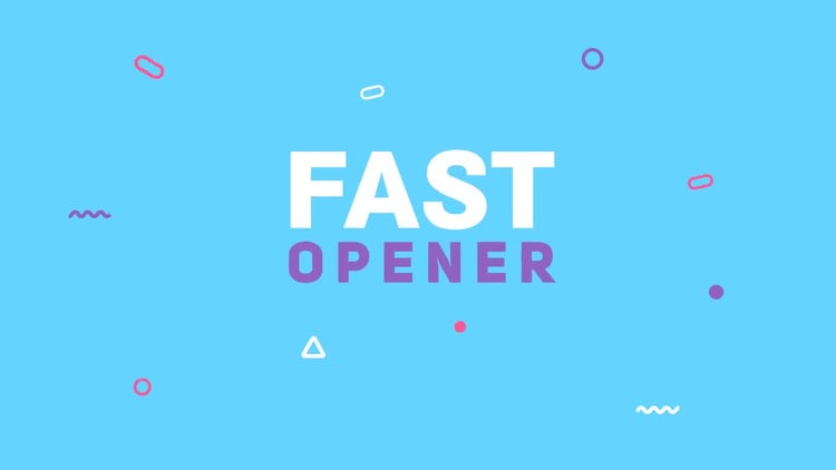 Fast Colorful Opener: After Effects Templates