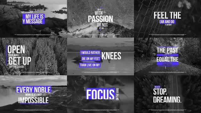 Neat Typography V.2: After Effects Templates