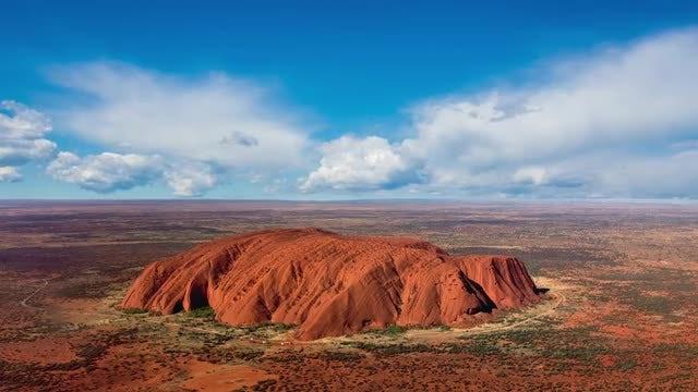 Uluru Australia Skyline: Stock Video