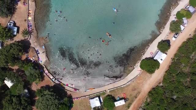 Hvar Island Aerial: Stock Video