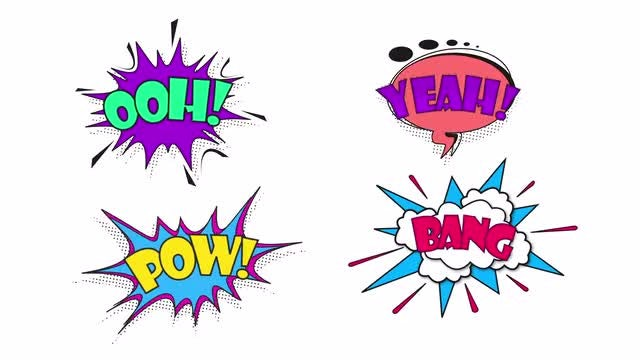 Comic Text Bubbles: Stock Motion Graphics