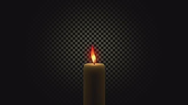 Burning Candle: Stock Motion Graphics