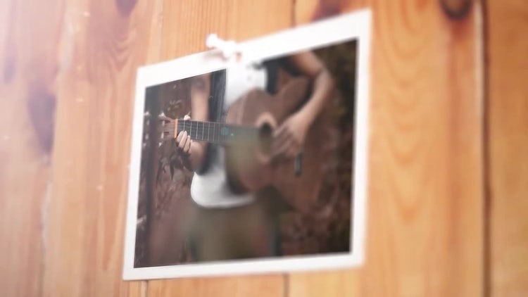 Wooden Wall Slideshow: After Effects Templates