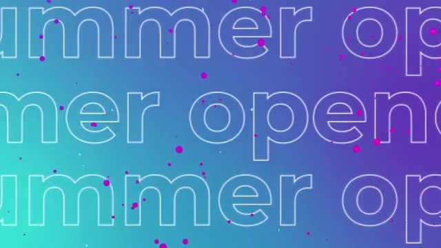 Summer Typo Opener: Premiere Pro Templates