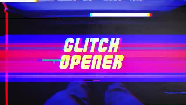 Fast Glitch Opener: After Effects Templates