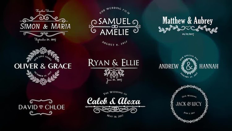 Elegant Wedding Titles: After Effects Templates