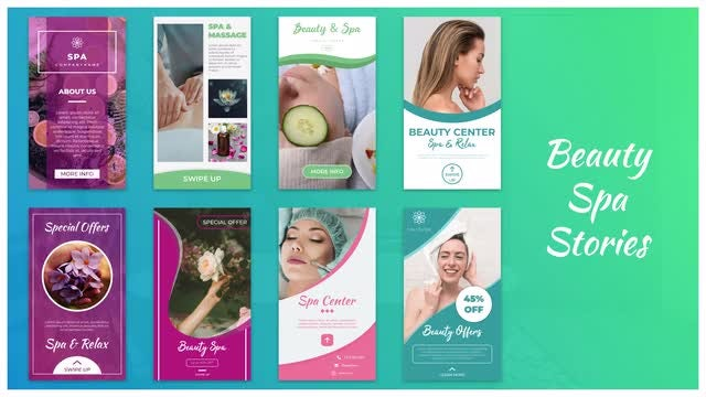 Beauty Spa Stories: After Effects Templates