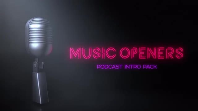 Music Podcast Opener Pack: After Effects Templates