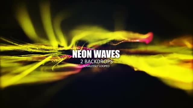 Neon Waves: Stock Motion Graphics