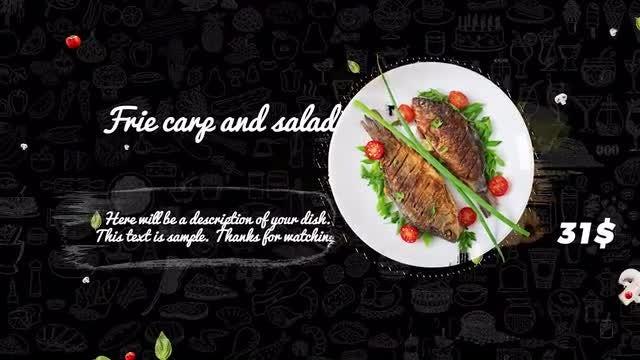 Food Menu Promo: Premiere Pro Templates
