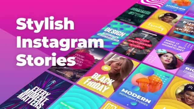 Stylish Instagram Stories: Motion Graphics Templates