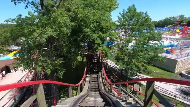 POV Roller-Coaster Ride: Stock Video