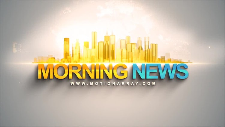 Morning News Intro: After Effects Templates