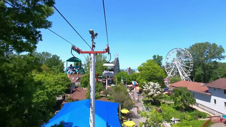 Chairlift Time-Lapse: Stock Video