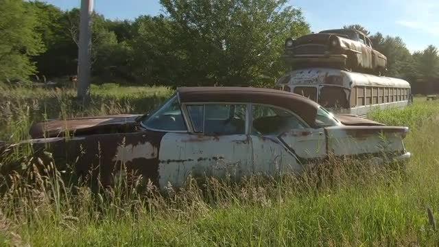 Junkyard Vehicles: Stock Video