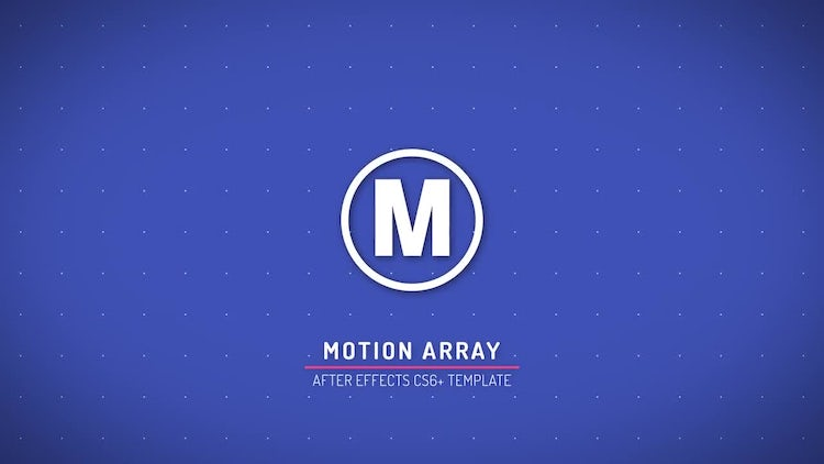 Simple Flat Logo Reveal: After Effects Templates