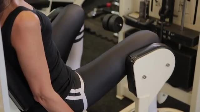 Woman Training Hip Abductors: Stock Video