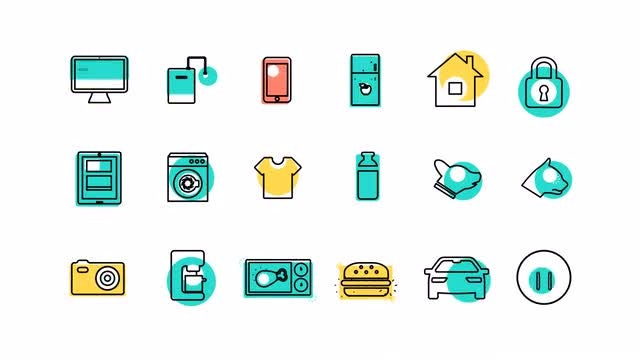 Internet Of Things And Smart Home Icons: After Effects Templates