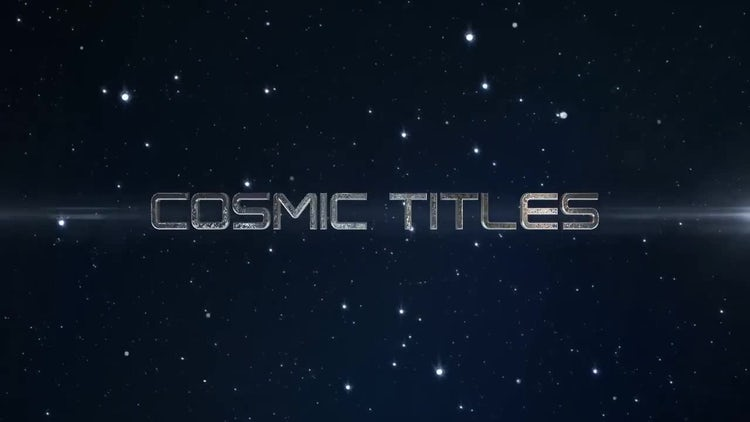 Cosmic Trailer  Titles: After Effects Templates