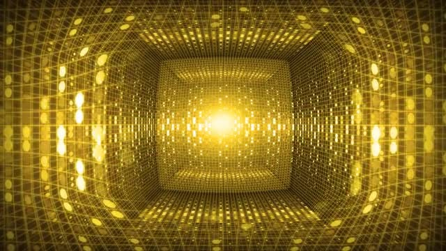 Golden Tunnel Loop: Stock Motion Graphics