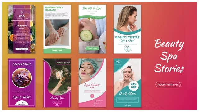 Beauty Spa Stories: Motion Graphics Templates