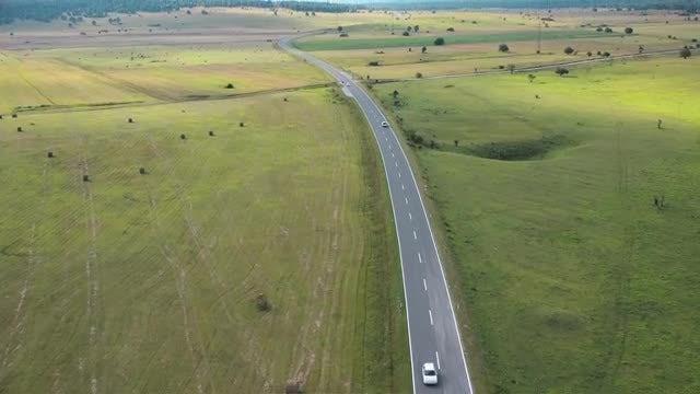 Road Through Bosnia Countryside: Stock Video