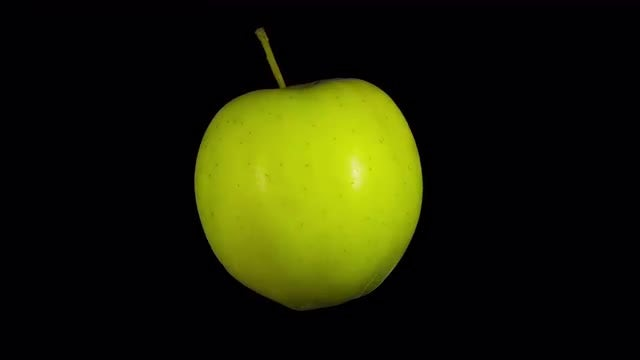 Isolated Green Apple: Stock Video