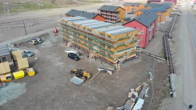 Building Construction In Longyearbyen: Stock Video