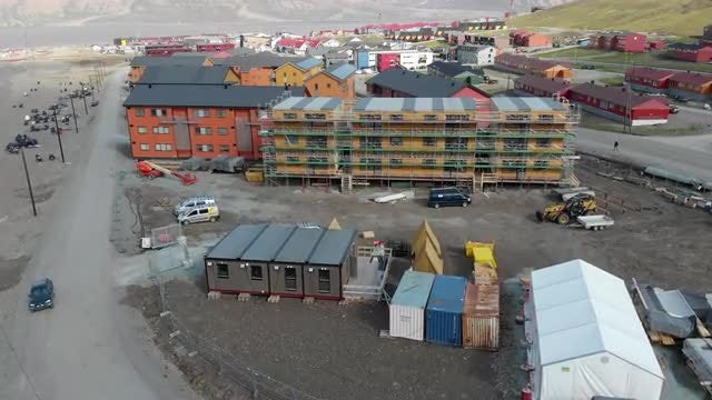 Construction In Longyearbyen: Stock Video