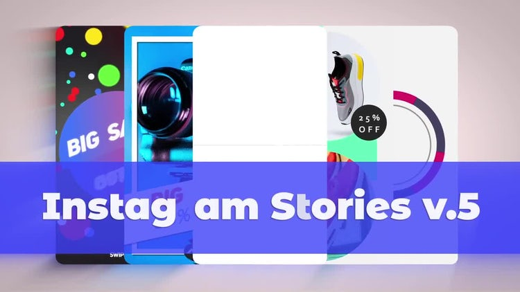 Instagram Stories V.5: After Effects Templates