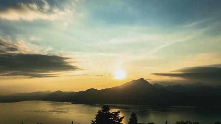 Lake Sunset: Stock Video