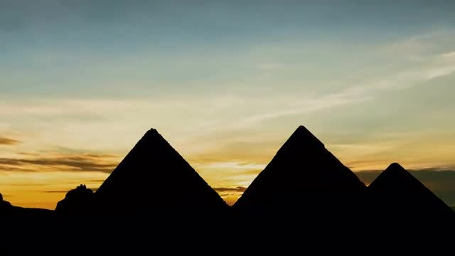 Pyramids Sunset: Stock Video
