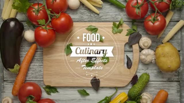 Food And Culinary Titles: After Effects Templates