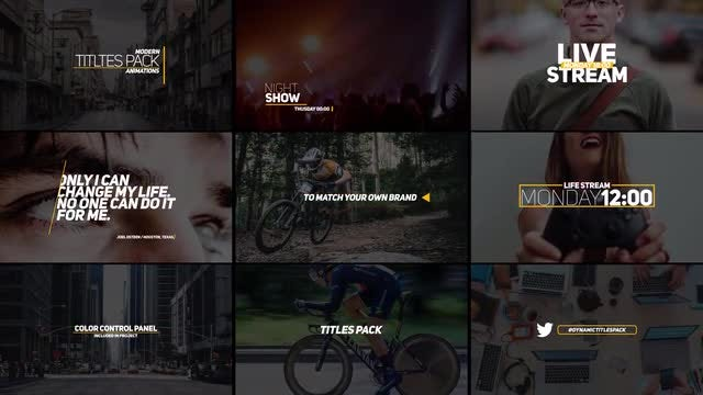 9 Modern Titles: After Effects Templates