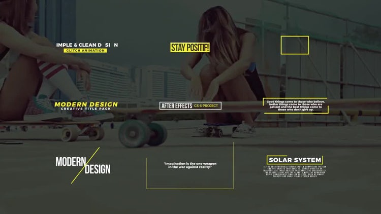 Creative Modern Titles: After Effects Templates