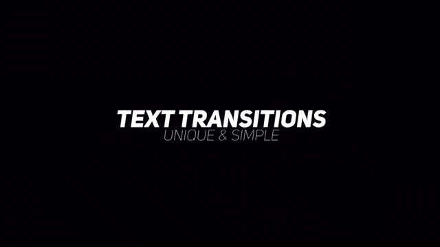 Scale Text Transitions: After Effects Presets