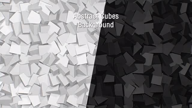 Abstract Cubes Backgrounds: Stock Motion Graphics