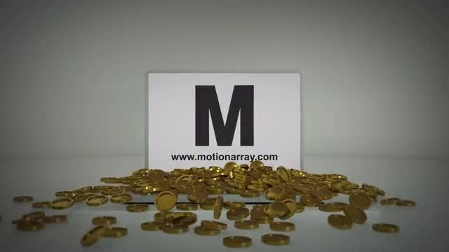 3D Gold Coins Logo Opener: After Effects Templates