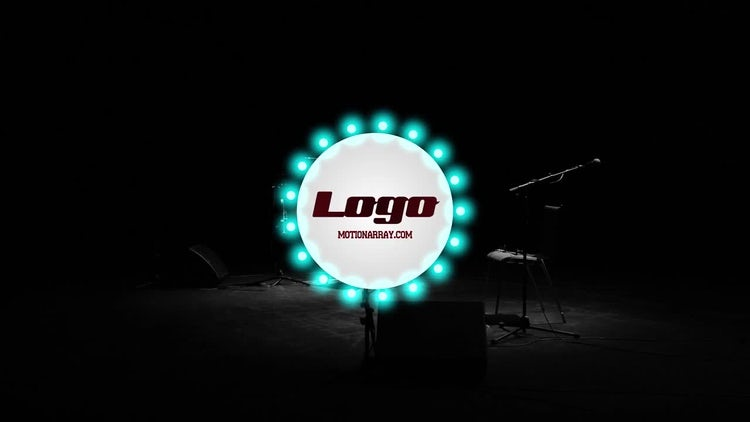 Retro Light Logo Reveal: After Effects Templates