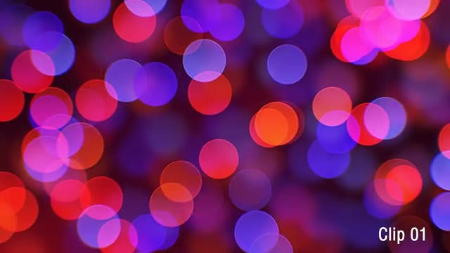Bokeh Backgrounds: Stock Motion Graphics