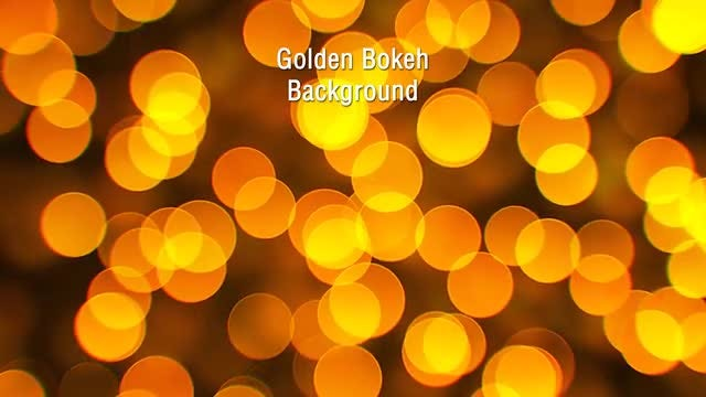 Golden Bokeh Background: Stock Motion Graphics