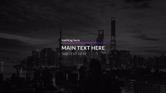 Minimal Gradient Titles: After Effects Templates