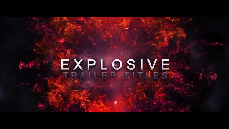 Explosive Trailer Titles: After Effects Templates