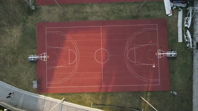 Basketball Court: Stock Video
