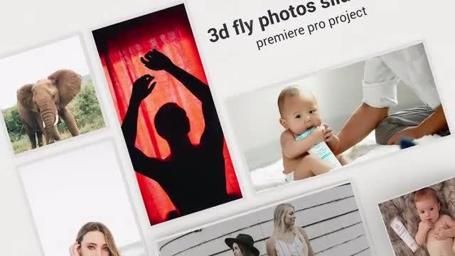 3d Fly Photos Slideshow: Premiere Pro Templates