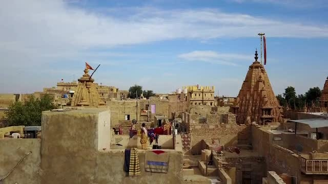 Aerial View Of Jaisalmer: Stock Video