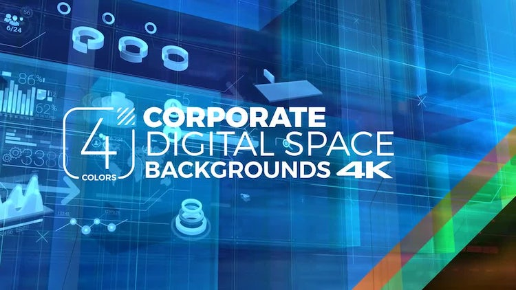 Corporate Digital Backgrounds Pack: Stock Motion Graphics