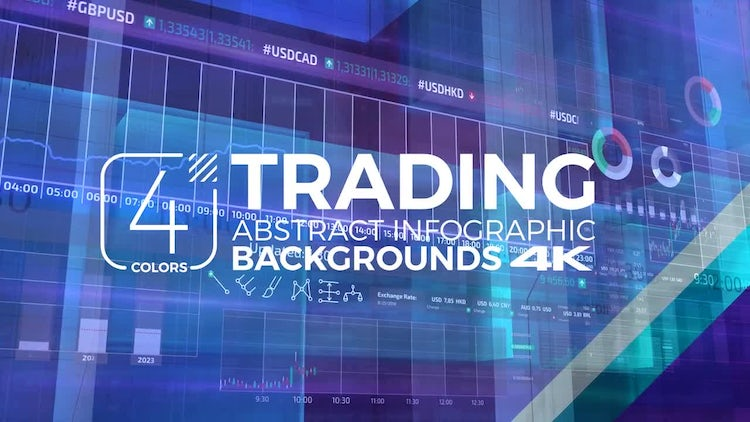 Trading Infographic Backgrounds Pack: Stock Motion Graphics